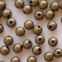 Antique Gold Plated Beads 4mm Round - 100